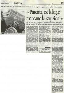 Gazzettino di Padova del 09-01-14