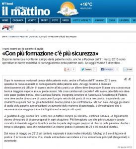Mattino di Padova del 02-04-13