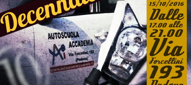 Save the date: decennale Autoscuola Accademia